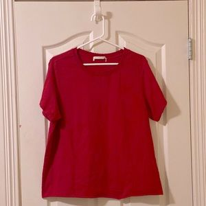 Forever 21 Red Distressed T-Shirt